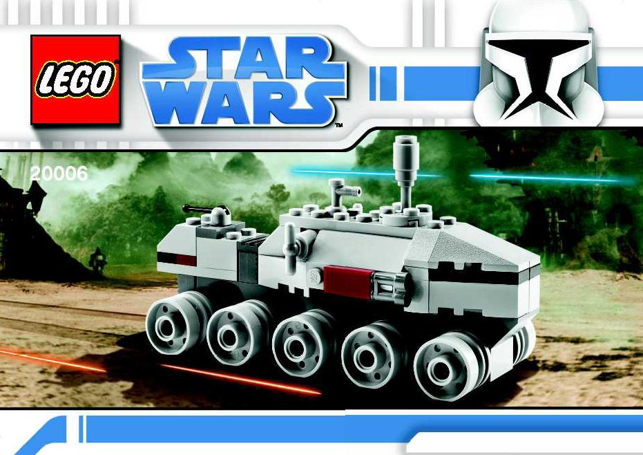 Lego 20006 Star Wars MINI Clone Turbo Tank