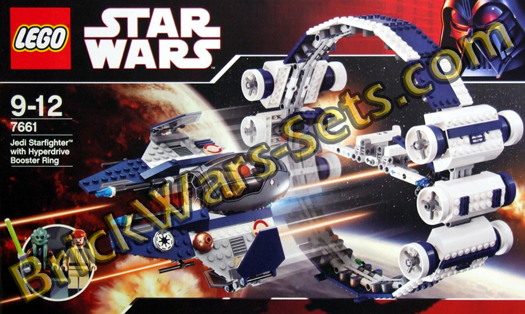 Lego 7661 Jedi Starfighter with Hyperdrive Booster Ring