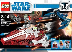 Lego 7751 Ahsoka's Starfighter and Droids