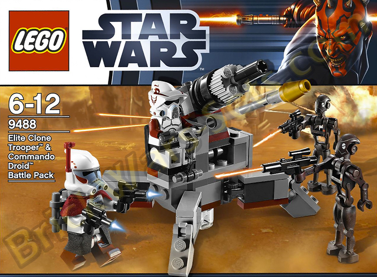 Lego 9488 Elite Clone Trooper and Commando Droids Battle Pack