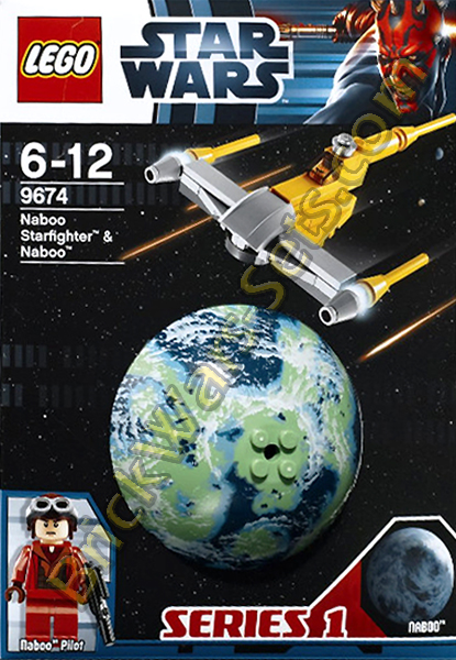 Lego 9674 MINI Naboo Starfighter and Naboo