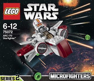 Lego 75072 ARC-170 Starfighter