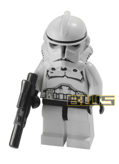 Clone Trooper (Black Head, Dotted Mouth, Phase II Armor)