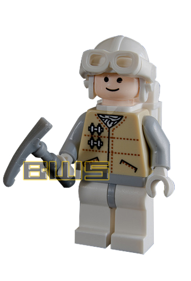 Hoth Rebel Trooper (White Helmet, White Goggles, Flesh)