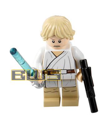 Luke Skywalker (Flesh, Short Blonde Hair, Tatooine, White Pupils)