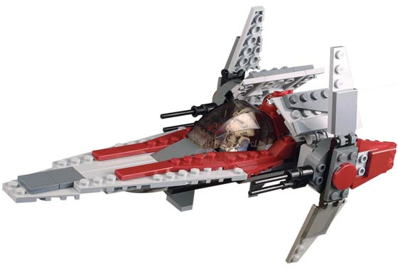 Lego 6205 V-Wing Fighter - Alternate View 1