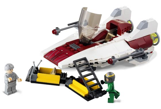 Lego 6207 A-Wing Fighter - Alternate View 1