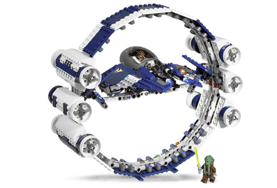 Lego 7661 Jedi Starfighter with Hyperdrive Booster Ring - Alternate View 1