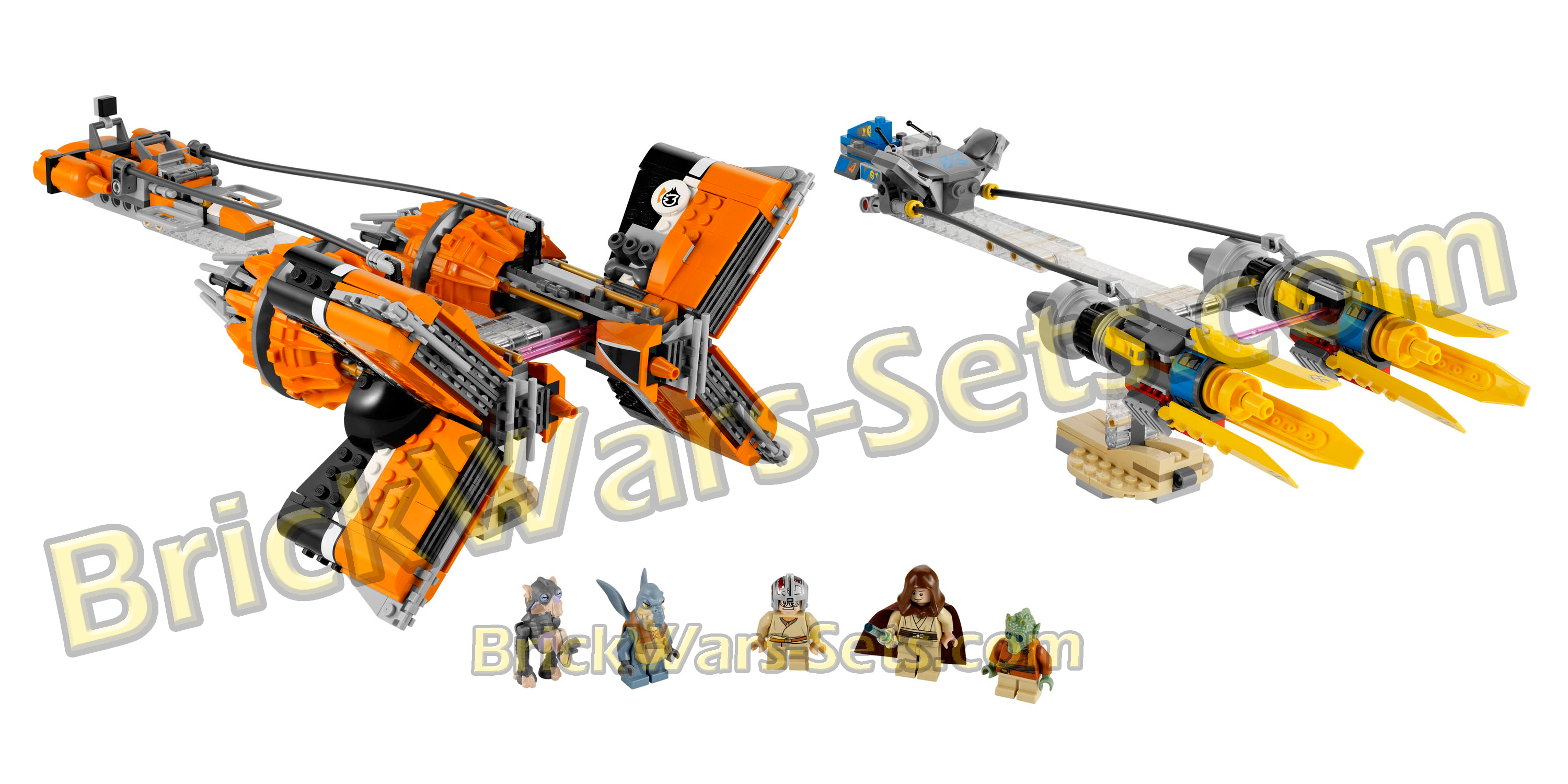 Lego 7962 Anakin's and Sebulba's Podracers - Alternate View 1