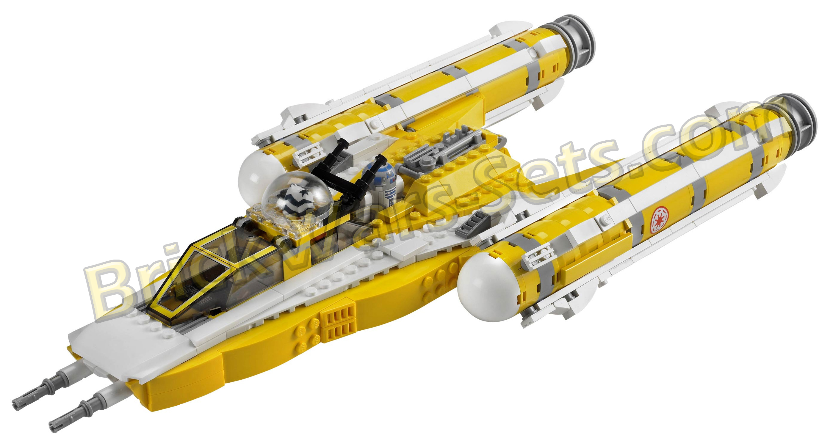 Lego 8037 Anakin's Y-Wing Starfighter - Alternate View 1