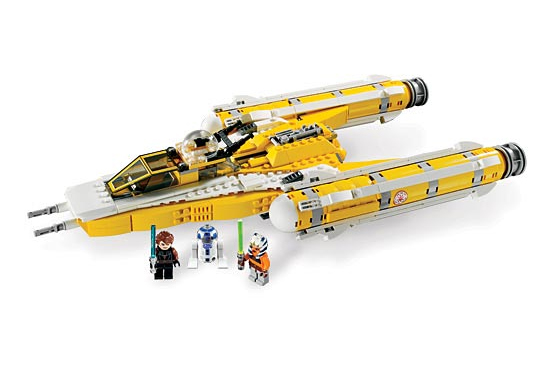 Lego 8037 Anakin's Y-Wing Starfighter - Alternate View 2
