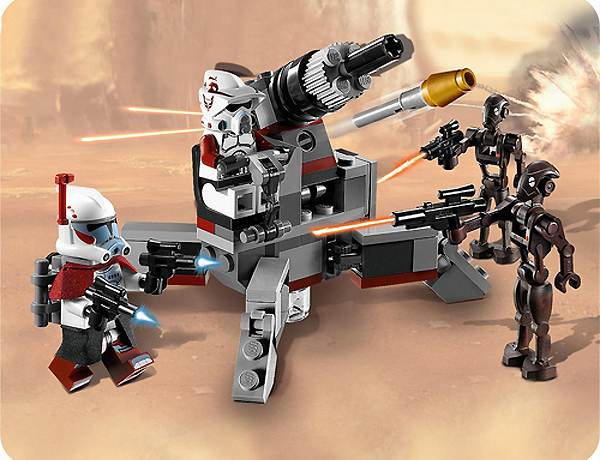 Lego 9488 Elite Clone Trooper and Commando Droids Battle Pack - Alternate View 1