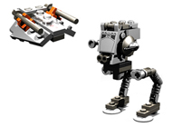 Lego 4486 MINI AT-ST and Snowspeeder