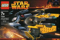 Lego 7256 Jedi Starfighter & Vulture Droid